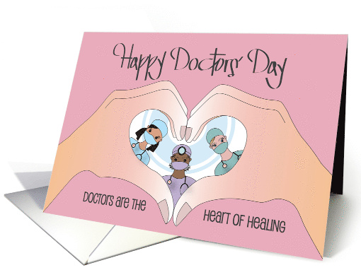 Doctors' Day for Female Doctor, Stethoscope & Tiny Melon Flower card