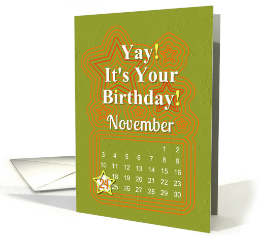 November 24th Yay It's Your Birthday date specific card (941062)