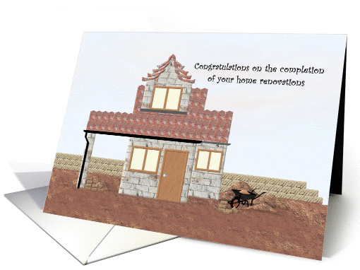 Congratulations on your home renovations, Home in-waiting card