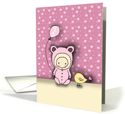 Birthday Card for 1 Year Old Girl - Cute and Whimsical! card (854714)