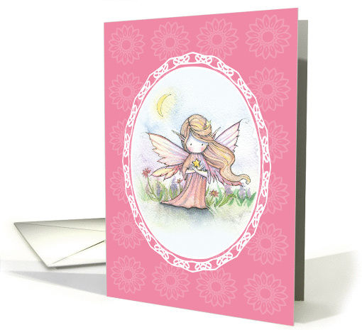 Thinking of You Card - Cute Fairy with Star card (858814)