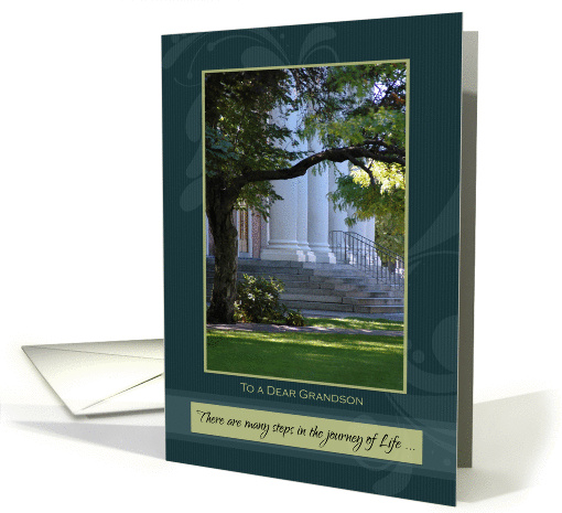 Graduation Congratulations for Grandson ~ Journey of Life Steps card