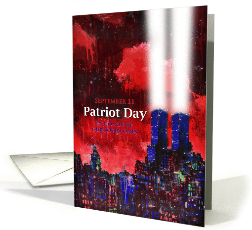 Patriot Day, Abstract,TwinTowers with bright lights, dark... (949870)