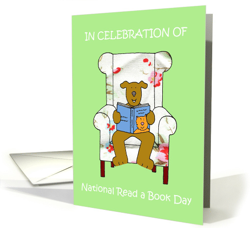 National Read a Book Day paper greeting card