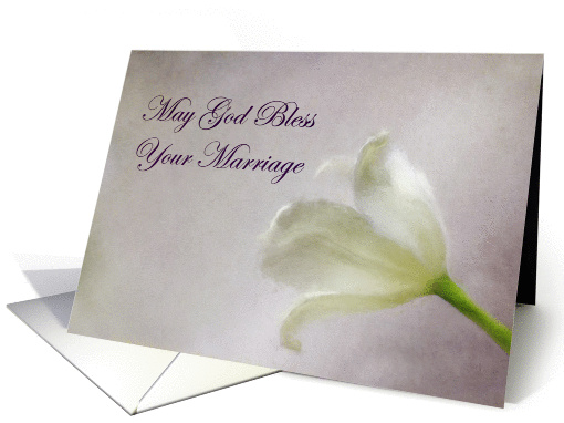 God's Blessing on Marriage Tulip card (1387488)