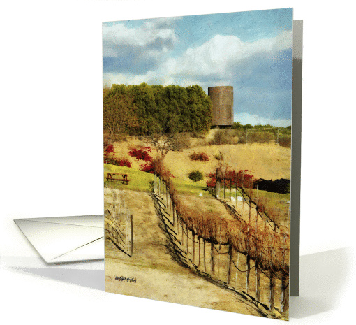 Temecula Wine Country in the Fall, General Blank Note card (1415064)