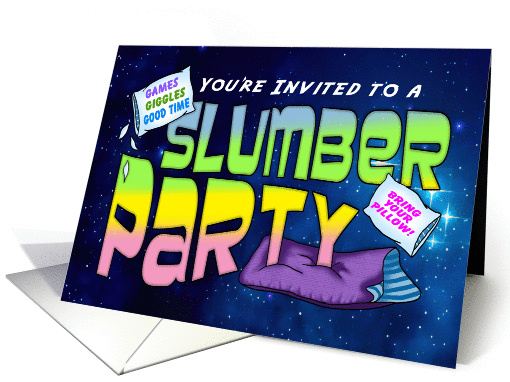 Games and Giggles Slumber Party Invitation card (1388462)