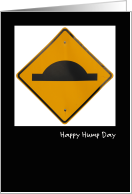 Hump Day Road Sign card