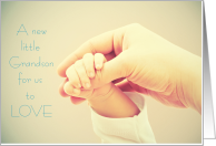 New Grandson to Love Thank you making us Grandparents Holding Hands card