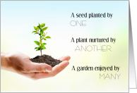 Small Beginnings Seed to Plant to Garden National Social Work Month card