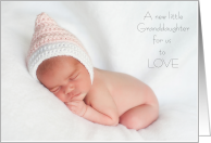 New Granddaughter to Love Thank you making us Grandparents Sleeping Newborn Girl card