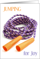 Congratulations Learning to Jump Rope with Joy card