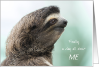 Sloth Day all about ME Sloth International Day Profile Humor card