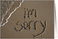 I'm sorry - beach & sand card