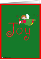 Joy - Christmas Angel card