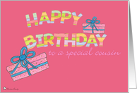 Happy Birthday - Cousin card