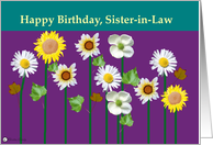 Happy Birthday, Sister-in-law card