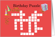 Birthday Puzzle - Card