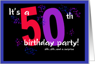 Invitation - 50th Birthday Party card