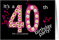 Invitation - 40th Birthday card