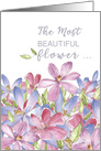 From All of Us on Mother's Day, Mom - The Most BEAUTIFUL Flower in the Garden card