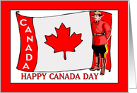 Canada Day - Canadian Flag & Mountie card