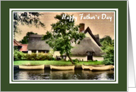 Father`s Day - Boat Scene card