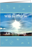Ash Wednesday - Sunrays card