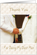 Thank You - Best Man card