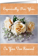 Vow Renewal - Floral card