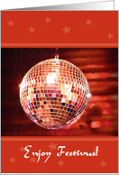 Festivus - Mirror Ball card