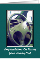 Congratulations - Driving Test, Steering Wheel card