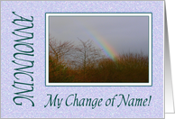 Announcement - Change Of Name, Rainbow card