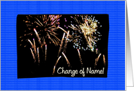 Announcement - Change Of Name, Fireworks card