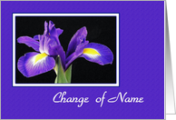 Change Of Name - Iris card