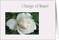 Change Of Name - White Rose card