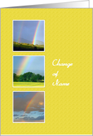 Change Of Name - Rainbows, Yellow Frame card