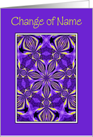 Change Of Name - Kaleidoscope Pattern, Purple Frame card