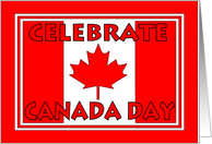 Canada Day - Canadian Flag card