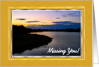 Missing You - Sunset Over Lake card