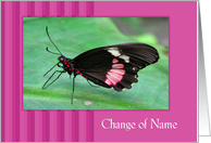 Change Of Name - Butterfly card