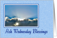 Ash Wednesday - Sunrays In Clouds card