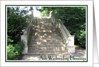 Ash Wednesday - Light Rays Over Steps card