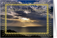 Ash Wednesday - Ocean Sunrays card