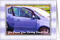 Congratulations - Driving Theory Test Pass, Car card
