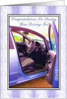 Congratulations - Driving Test Pass, Car card