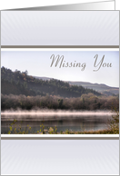 Missing You - Steamy Lake card