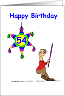 54th Birthday - Hitting 54 card