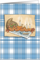 Happy Thanksgivukkah Pumpkin Menorah card