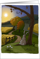 Autumn Bunny card
